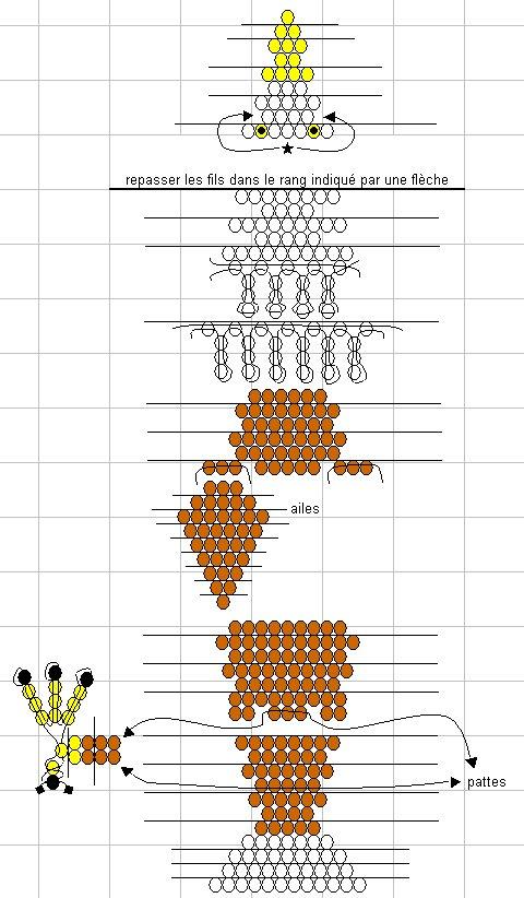 Схемы объемных изделий из бисера